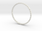 Spiral Bracelet Medium Large in White Strong & Flexible
