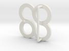 Belt Buckle in White Strong & Flexible