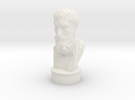 Epicurus - 6 inches tall hollow. in White Strong & Flexible