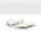 Vambrace Winged Pendant in White Strong & Flexible