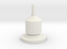 1/10 Scale Wilson 5000 Magnetic CB Antenna Base in White Strong & Flexible