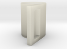 geometric mug 03 in Transparent Acrylic