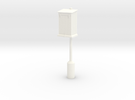 PRR Telephone Box - Extended Base in White Strong & Flexible Polished