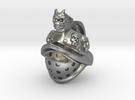 Gladiator Bead in Raw Silver