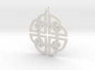 Celtic Pendent 2 in White Strong & Flexible
