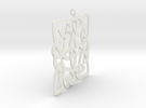 Celtic Pendent 3a in White Strong & Flexible