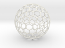 Geo-ball (5cm) in White Strong & Flexible