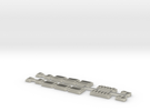 Z Scale Pullman Heavyweight Combine Car Windows in Transparent Acrylic