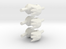 minifig  6 hands wolf  in White Strong & Flexible