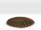 Honeycomb Pendant in Raw Bronze