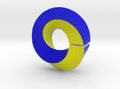 Square Toroid with Möbius Twist in Full Color Sandstone