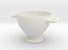 Greek Vase - Skyphos C in White Strong & Flexible