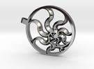 Fibonacci Sun in Premium Silver