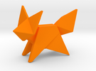 Origami Fox in Orange Strong & Flexible Polished