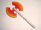 Action Figure Weapon: Greataxe (5mm peg) in White Strong & Flexible Polished