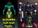 Slizardo homage Komodo 2.25inch Transformers Mini  in Full Color Sandstone