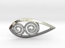 Tear Spiral Pendant in Premium Silver