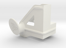 Shelf Hook Left 18mm in White Strong & Flexible