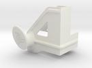 Shelf Hook Left 18mm in White Strong & Flexible