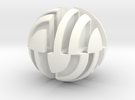 Sphere Version Of Simple Cube Positive 4 Piece in White Strong & Flexible Polished