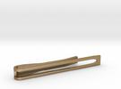 Minimalist Tie Bar - Wedge in Polished Gold Steel