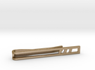 Minimalist Tie Bar - Triple Slash in Polished Gold Steel