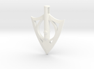 Broadarrow Pendant Small in White Strong & Flexible Polished
