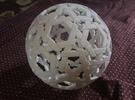 Truncated Icosahedron Sculpture (3 copies needed) in White Strong & Flexible