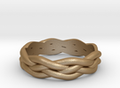 Braided Ring 6 L½ (other sizes available) in Matte Gold Steel