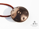 Handpan Instrument Pendant v4 in Polished Bronze Steel