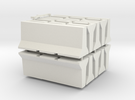 HO/1:87 Jersey barrier 3m x10 in White Strong & Flexible