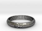 Word Ring in Polished Nickel Steel