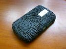 BlackBerry 9000 - Finger Print Case in White Strong & Flexible