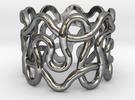 Loose Plonter ring size 7 in Premium Silver