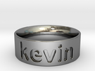 Personalized silver ring in Premium Silver
