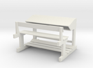 Bange (Albanian school desk) - 1:100 in White Strong & Flexible