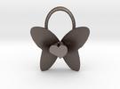 Cute Heart Butterfly Pendant in Stainless Steel