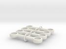 4m Pushrod Set in White Strong & Flexible