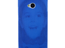 HTC One (M7) 3D Printed case - Portrait collection in Blue Strong & Flexible Polished
