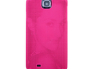 Samsung S4 3D Printed case - Portrait collection in Pink Strong & Flexible Polished