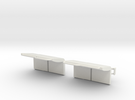 2550 2 Seat in White Strong & Flexible