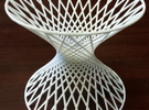 Doubly Ruled Hyperboloid in White Strong & Flexible