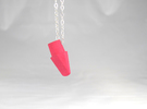Eraser Pendant  in Pink Strong & Flexible Polished