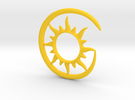 Earhook-Sun in Yellow Strong & Flexible Polished