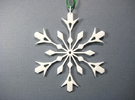 Snowflake Holiday Decor - Tree Ornament in White Strong & Flexible Polished