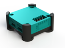 OpenPilot CopterControl Case upper v1 in White Strong & Flexible