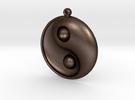 Yin Yang - 6.1 - Earring - Right in Matte Bronze Steel