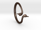 Cygnus Olor Swan Ring 6 in Matte Bronze Steel