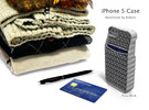 "iPhone 5 - ""Sweater"" Case with Pocket in White Strong & Flexible Polished"
