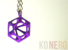 Diamante Pendente in Purple Strong & Flexible Polished
